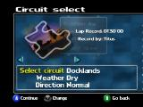 Roadsters Nintendo 64 Circuit select