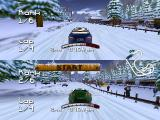 Roadsters Nintendo 64 2-player race (vertical split screen)