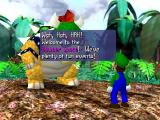 Mario Party Nintendo 64 Luigi encountering Bowser.