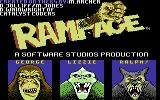 Rampage Commodore 64 The characters (Europe version)