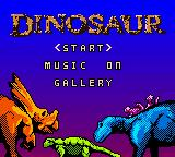 Disney's Dinosaur Game Boy Color Title screen