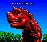 Disney's Dinosaur Game Boy Color Game over