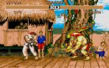 Street Fighter II Atari ST Ryu vs Blanka.