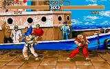 Street Fighter II Atari ST Fight at the docks.