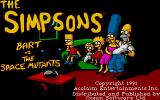 The Simpsons: Bart vs. the Space Mutants Atari ST Title screen.