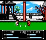 Crash 'N the Boys: Street Challenge NES Fighting Scene in the Japanese version