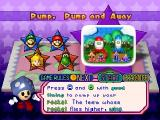 Mario Party 3 Nintendo 64 Explanation of the Pump, Pump and Away mini-game.
