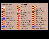 Sid Meier's Pirates! Amiga City information screen