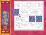 Barbie as Rapunzel: A Creative Adventure Windows Mosaic puzzle activity in the grand foyer