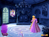 Barbie as Rapunzel: A Creative Adventure Windows Restoring the throne room.