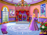 Barbie as Rapunzel: A Creative Adventure Windows The throne room has been restored.