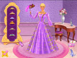 Barbie as Rapunzel: A Creative Adventure Windows Pick out Rapunzel's dress for the ball.