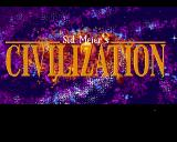 Sid Meier's Civilization Amiga Title screen