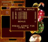 Wordtris  SNES Level A is cleared. On to level B.
