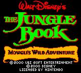 Walt Disney's The Jungle Book: Mowgli's Wild Adventure Game Boy Color Title screen
