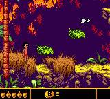 Walt Disney's The Jungle Book: Mowgli's Wild Adventure Game Boy Color Leaf platforms will quickly collapse.
