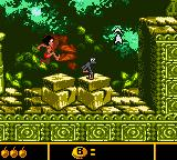 Walt Disney's The Jungle Book: Mowgli's Wild Adventure Game Boy Color Chasing a monkey through the Ancient Ruins.