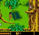 Walt Disney's The Jungle Book: Mowgli's Wild Adventure Game Boy Color Difficult jumping in Treetops.