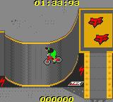 MTV Sports: T.J. Lavin's Ultimate BMX Game Boy Color In a half-pipe.