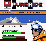 MTV Sports: Pure Ride Game Boy Color Lee it is.