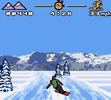 MTV Sports: Pure Ride Game Boy Color An icy turn.