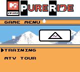 MTV Sports: Pure Ride Game Boy Color Do training or the MTV Tour?