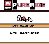 MTV Sports: Pure Ride Game Boy Color Here is the password for your current level.