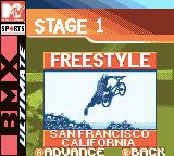 MTV Sports: T.J. Lavin's Ultimate BMX Game Boy Color In competition, your first course is San Fransisco, CA.