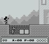 Mickey's Dangerous Chase Game Boy Trapped by his own eagerness for a fight.