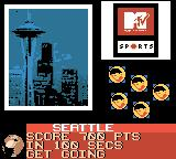 MTV Sports: Skateboarding featuring Andy Macdonald Game Boy Color Score 700 points in 100 seconds.
