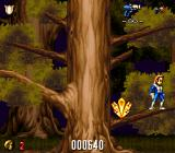 Realm SNES Climbing a tree by jumping from branch to branch