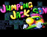 Jumpin' Jackson Amiga Title screen.