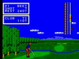 Golfamania SEGA Master System But the hazard doesn't seem that when playing the shot.
