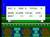 Golfamania SEGA Master System After each hole a summary of how you went is displayed.
