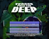 X-COM: Terror from the Deep PlayStation The main menu