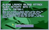X-COM: Terror from the Deep DOS You have sent Triton-1, a person carrier craft, to the alien site to intercept the aliens.