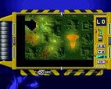 X-COM: Terror from the Deep PlayStation The tactical thermal-image map, showing you the layout of the level and the position of your units and items.