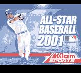 All-Star Baseball 2001 Game Boy Color Title screen