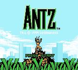 Antz Game Boy Color Title screen