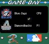 All-Star Baseball 2000 Game Boy Color Game day. It's the Blue Jays vs. the Diamondbacks.