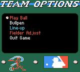 All-Star Baseball 2000 Game Boy Color The team options.