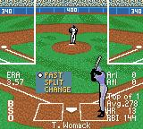 All-Star Baseball 2001 Game Boy Color Setting the type of pitch