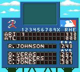 All-Star Baseball 2001 Game Boy Color The score after the top of the 1st inning.