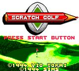 Scratch Golf Game Gear Title screen