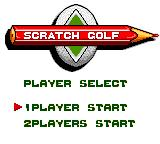 Scratch Golf Game Gear Main Menu