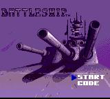 Battleship Game Gear Title screen