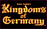 Kingdoms of Germany DOS Title Screen