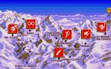 Super Ski II Atari ST Ski Events are set in Resorts of French Alps