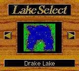 Zebco Fishing! Game Boy Color Lake selection.