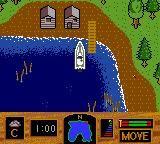 Zebco Fishing! Game Boy Color The starting pier.